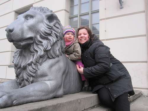Lachen mit dem Löwen